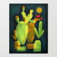 MOONLIGHT CACTUS Canvas Print