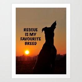 Rescue is my favourite breed Art Print