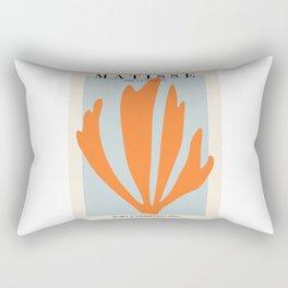 Henri matisse the cut outs blue and orange contemporary, modern minimal art Rectangular Pillow