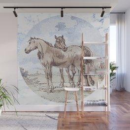 Companions - horse love Wall Mural