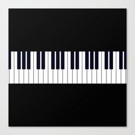 Piano Keys - Black and white simple piano keys pattern minimalistic music themed artwork Canvas Print