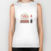 makeup Biker Tanks featuring Makeup Guru by PhraseCrowd