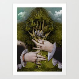 """""""The hands of Bosch and the Spring"""" Art Print"""