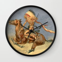 "Frederic Remington Western Art ""Pony War Dance"" Wall Clock"