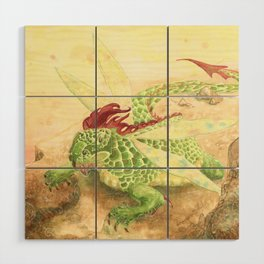 The Dragonfly Wood Wall Art