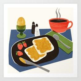 Mid Century Breakfast Art Print