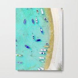 many boats on the beach Metal Print
