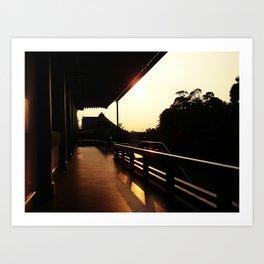 Narita-san Temple Art Print