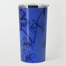 Blue Botanical Travel Mug