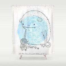 It's a secret. Shower Curtain