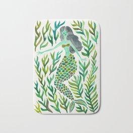 Kelp Forest Mermaid – Green Palette Bath Mat
