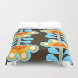 swedish flowers Duvet Cover