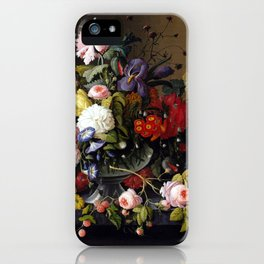 Severin Roesen Still Life, Flowers and Fruit iPhone Case