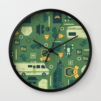 breaking bad Wall Clocks featuring Breaking Bad by Tracie Andrews