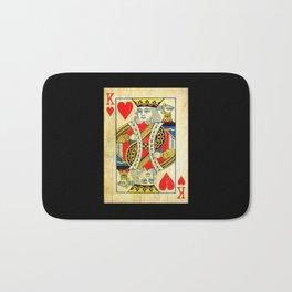 King Of Hearts Card Deck Old Bath Mat