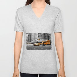 New York Streets Unisex V-Neck