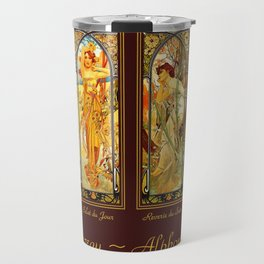 Vintage Art Nouveau - Alphonse Mucha Travel Mug