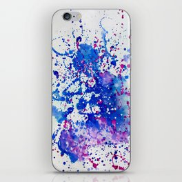 """""""Obstructed Thought"""" Watercolor by Noora Elkoussy iPhone Skin"""