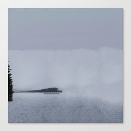 Fog Lake Canvas Print