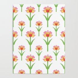 Papercut Florals Poster