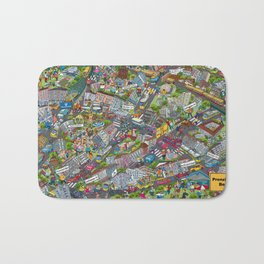 Illustrated map of Berlin-Prenzlauer Berg Bath Mat