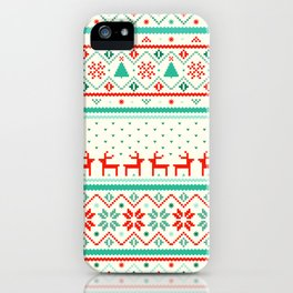 Festive Fair Isle iPhone Case