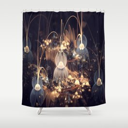 3D Color Flower Shower Curtain