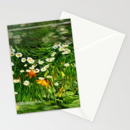 Upside Down Daisies Stationery Cards