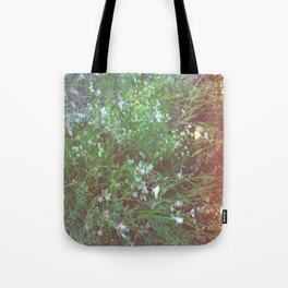 FLOWERS IN THE BRUSH Tote Bag
