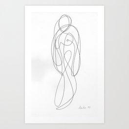 Line Nude 2 Art Print