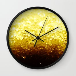 Golden Yellow Ombre Crystals Wall Clock