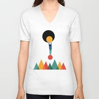 cycle V-neck T-shirts featuring Cycle by Andy Westface