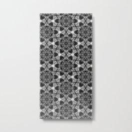 Black & White Dots Metal Print