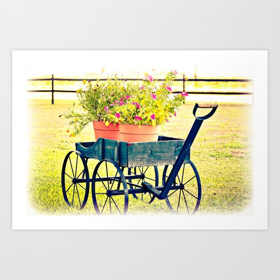 Blooming Wagon Art Print