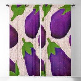 Eggplant Fun Blackout Curtain