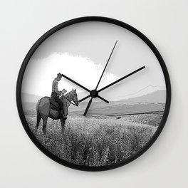 Black & White HORSE Pencil Drawing Photo Wall Clock