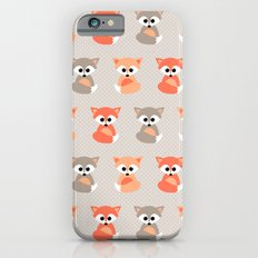 Baby foxes pattern iPhone 6s Slim Case