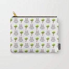 Iku Bunnies & Trees Pixel Art Carry-All Pouch