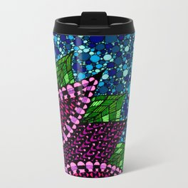 Stained Glass Flower Metal Travel Mug
