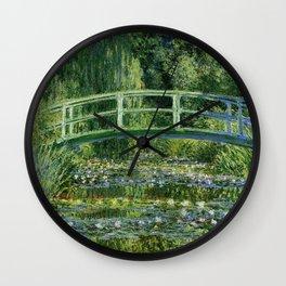 Claude Monet Neck Gaiter Water Lillie and the Japanese Bridge Monet Neck Gator Wall Clock