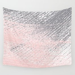 Pink Pastel and Grey Background Wall Tapestry