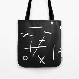 Abstracted Noughts and Crosses Tote Bag