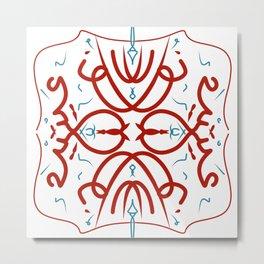 Arabic calligraphy mandala - love of my life Metal Print