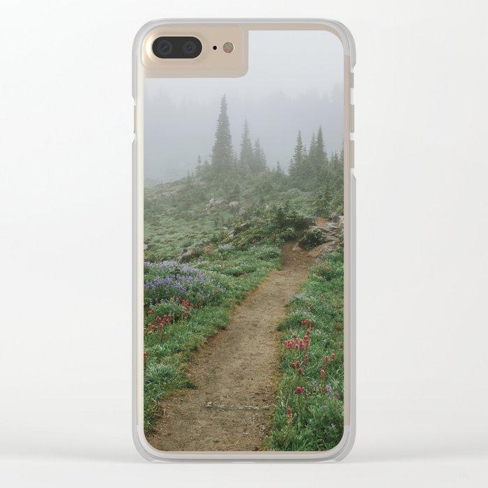 Washington Wildflower Fog Clear iPhone Case