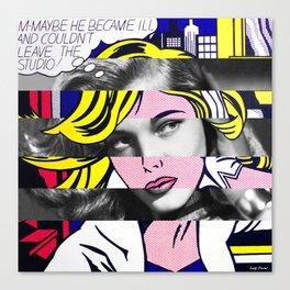 Roy Lichtenstein's M-Maybe & Lauren Bacall Canvas Print
