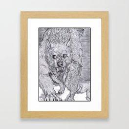 Weremonster 1 Framed Art Print