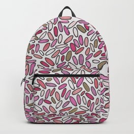 Pink, magenta, rose and gold illustrated Confetti Backpack