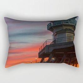 Fading Fire Rectangular Pillow