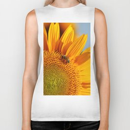 Sunflower & Bee Biker Tank
