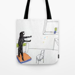 in the virtual reality suit Tote Bag